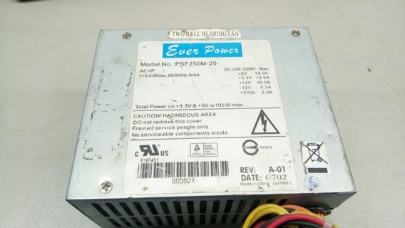 Mini Fonte Atx 24 Pinos + Sata Ever Power Psf250m-20 105w