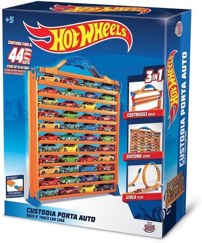 Imagen 1 de 5 de Pista Hot Wheels Valija 3 En 1 Guarda 44 Autos Hwcc9 Edu