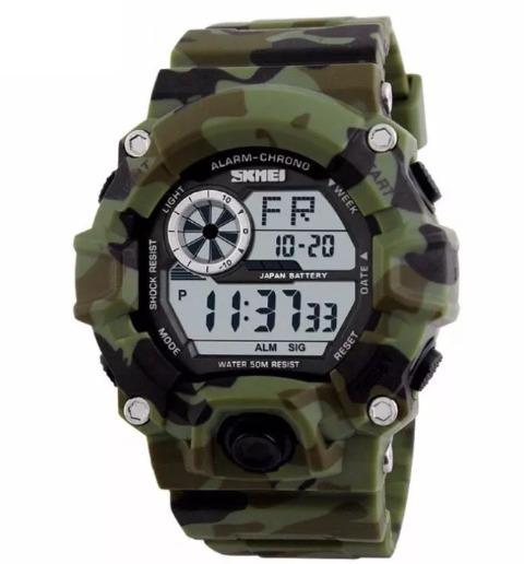 Relógio Militar S-shock Skmei Camuflagem Pd