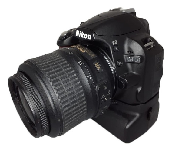 Câmera Nikon D3100 Seminova Perfeita + Grip + Lente + Case