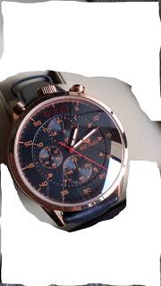 Megir Militar Deporte Reloj De Cuero Genuino Con Cronógrafo