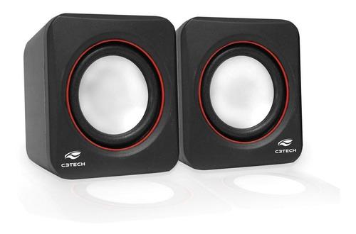 Caixa De Som Usb/p2 Speaker 2.0 Sp-301bk C3tech
