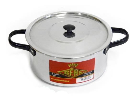 Cacerola De Aluminio Nº18 - 2 Lts Asas Negras