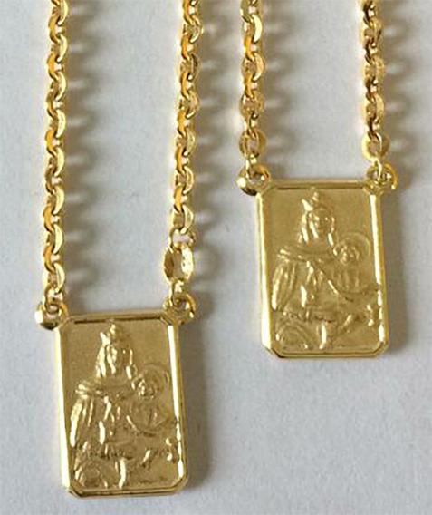 Escapulário Em Ouro 18k 750 (7,2 Gramas)