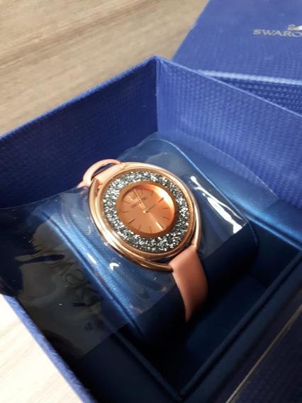 Relógio Swarovski Crystalline Champagne Novo Cx Original !!!