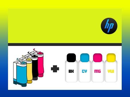 Sistema Continuo De Tinta Hp + Tinta + Llave Antiderrame