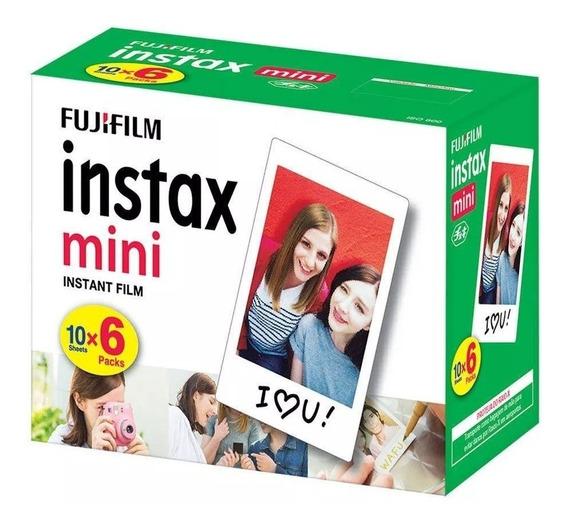 Filme Papel Instantâneo Fujifilm Instax Mini - Com 60 Fotos