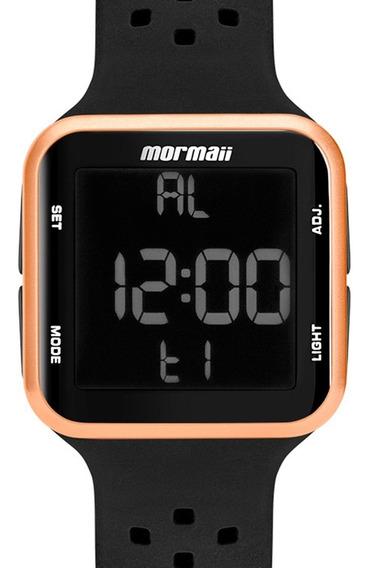 Relógio Digital Silicone Preto Feminino Mo6600/8j Original