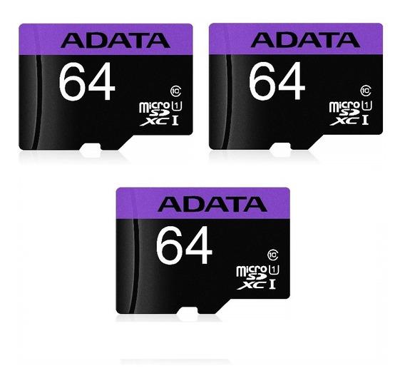 Cartao De Memoria 64gb Adata Microsdxc Com Adaptador