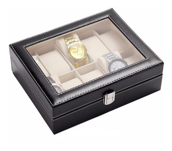 Estuche Porta Relojes 10 Pzs, Watch Case Envio Gratis