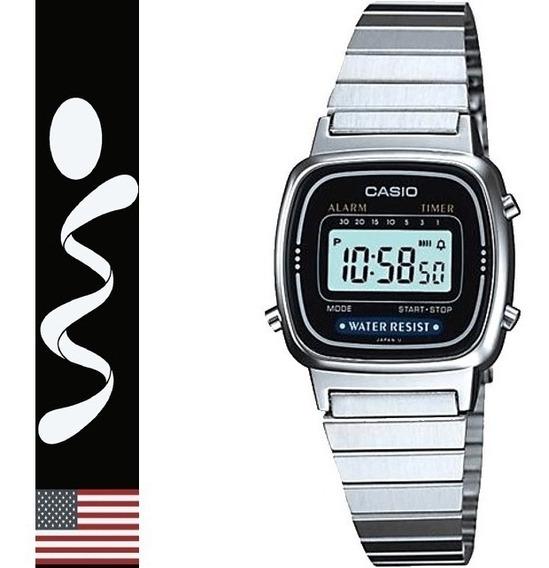 Reloj Casio Mujer Retro Metalico La670 100% Original En Caja