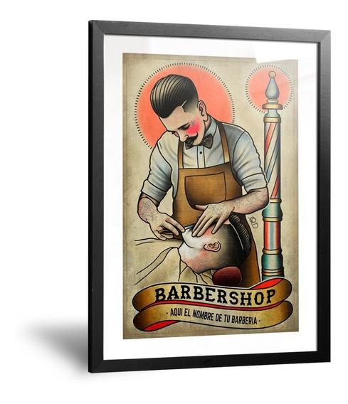 Cuadros Vintage Retro Barbería Peluquería Barber Shop Hombre