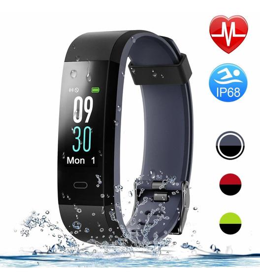 Smart Watch Pulsera Inteligente Impermeable Ip68 Gris