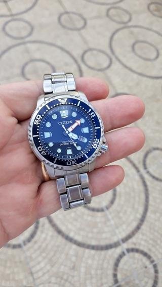 Relógio Citizem Eco Drive Bn0151 Azul Todo Aço