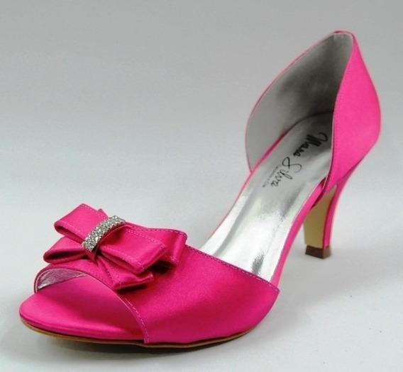 Sandália Cetim Pink Ideal Para Noiva, Debutante E Madrinha