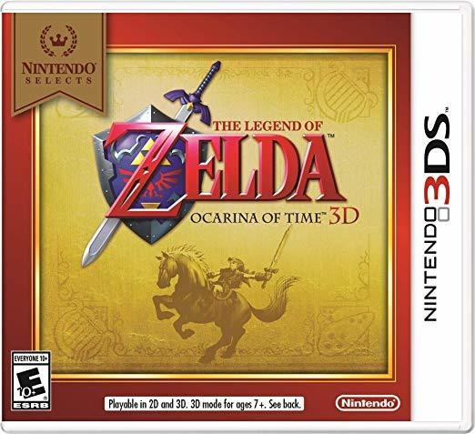 The Legend Zelda Ocarina Of Time 3ds Black Label 2 Unidades