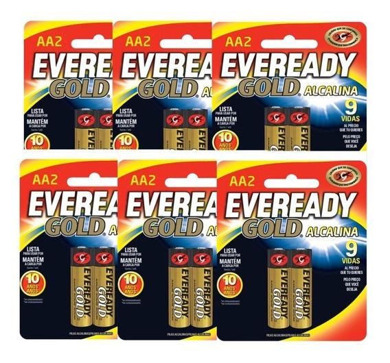 Pilas Baterias Alcalinas Aa 1.5v 6 Paquetes Eveready Gold