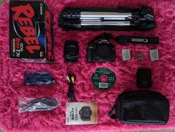 Canon T3i Impecável Lente 18-55mm Kit Completo Pouco Usada