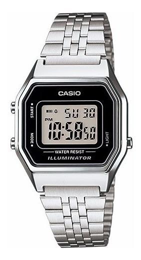 Relógio Casio Feminino Vintage La680wa 1df Prata Digital