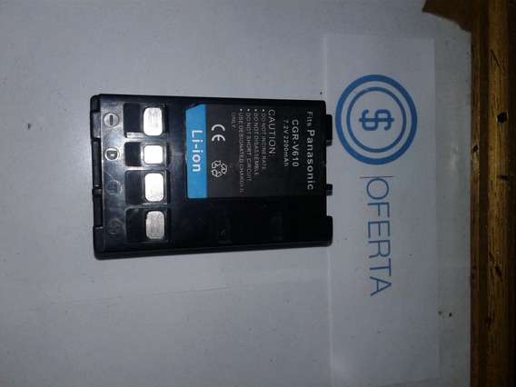 Bateria Filmadora Panasonic Cgr-v610 Barbada