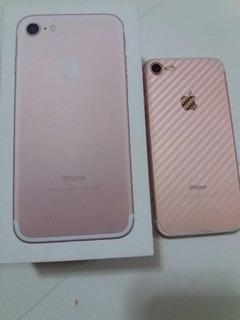 Vendo iPhone 7 32 Gb Rose Com Icloud Livre,quatro Mês De Uso