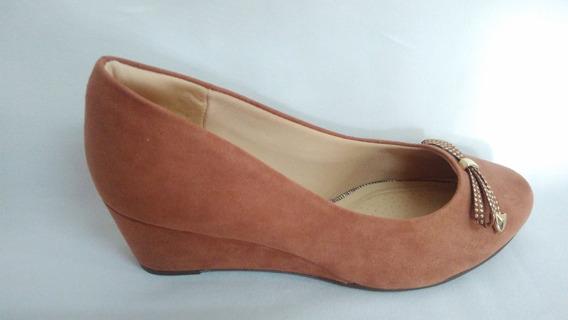 Sapato Piccadilly Anabelinha Marrom Camurça Confortável 5,0.