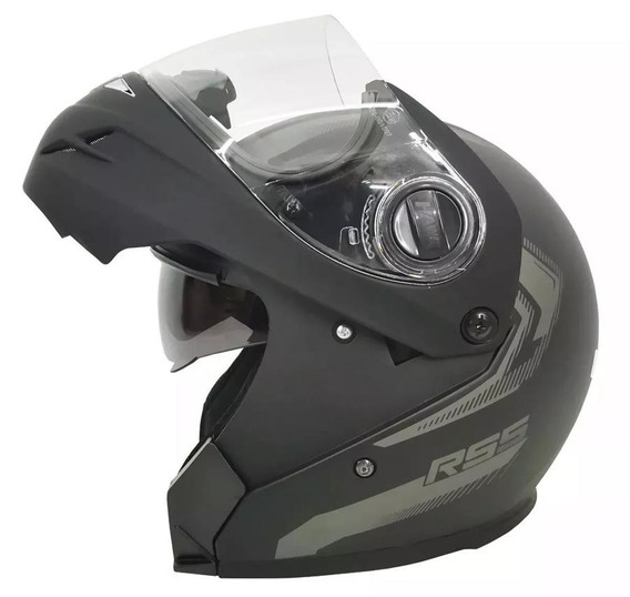 Casco Rebatible Rs5 Hawk Vector Doble Visor Cycles