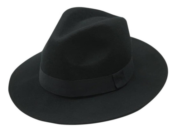 Promoção Chapéu Fedora Feltro Aba Grande Unissex Várias Core