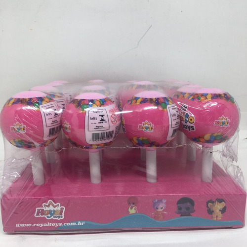 Confete Pirulito Toys Rosa Com 16 Unidades