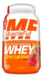 Whey Zero Lactose Wpc (900g) - Muscle Full - Morango