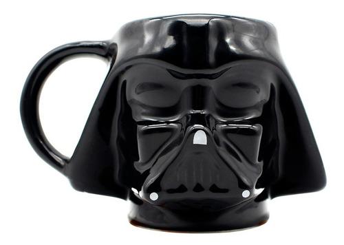 Caneca Formato 3d Darth Vader Star Wars Galaxia 500ml Disney