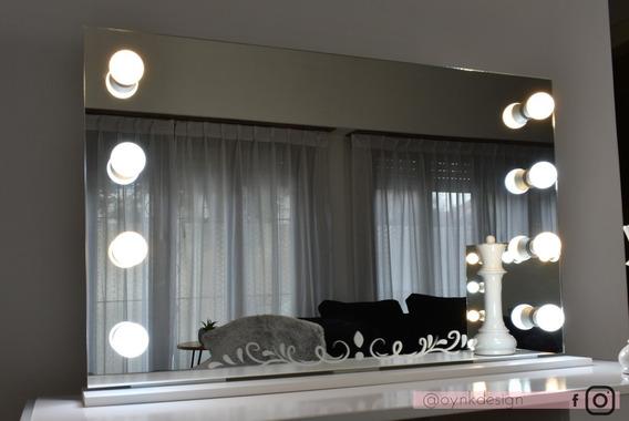Espejo Hollywood Maquillaje 100x60 Luces Led 8+ Envíogratis
