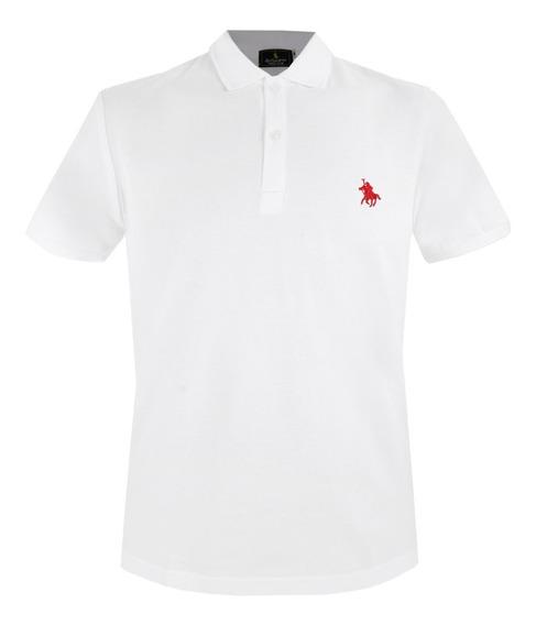 Playera Polo Club Of Berkshire, Niños / Blancas