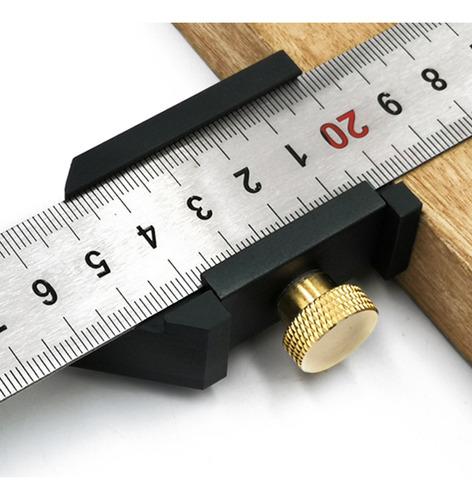GFCGFGDRG Paralelo Regla de Acero Posicionamiento Bloque carpinter/ía Regla Bloque gobernante Posicionador Localizador de posici/ón para la Herramienta de medici/ón