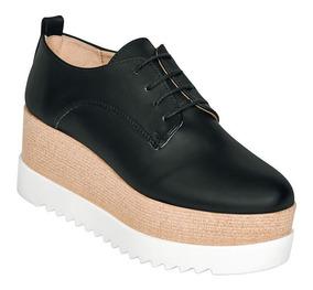 Zapato Casual Dama Mujer Plataforma Doble Suela Bostoniano