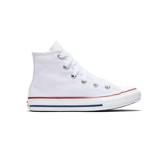 Zapatillas Converse All Star Chuck Taylor Hi Blancas De Niño