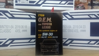 Aceite Lubricante Sintetico Toyota O.e.m. 5w30 4 L (lata)