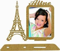 90 Porta Retrato Torre Eiffel Mdf Cru C/nome 10x15 15 Anos