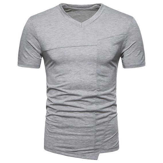 Camiseta Cómoda De Manga Corta Salvaje Para Hombre