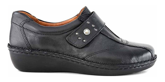 Zapatilla Mujer Cuero Cavatini Zapato Abrojo Moda Mczp05064