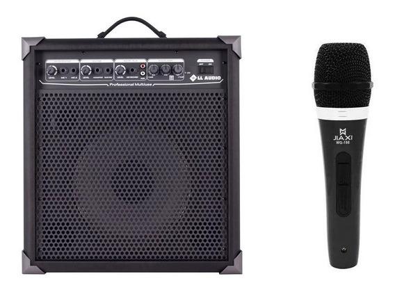 Caixa Amplificada Multiuso Lx100 C/ Microfone