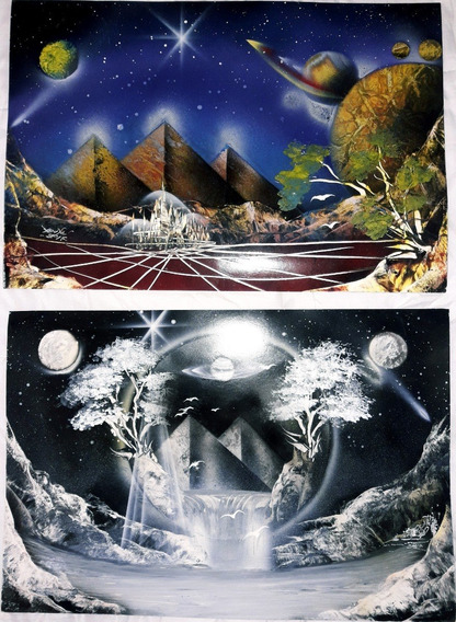 Universo Arte Cuadros X2 Hoja Hogar Deco Aerosol
