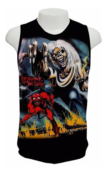 Camisa Iron Maiden The Number Ofthe Beast - Regata