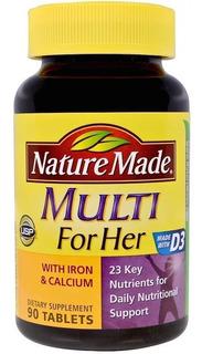 Multivitamínico Para Mulheres 90 Doses Nature Made - Eua