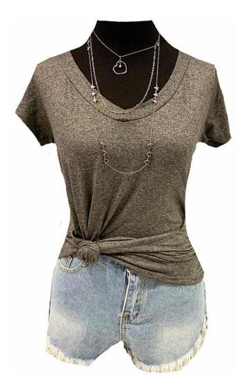 Kit Com 3 Camiseta Feminino Shirt Podrinha Varias Cores