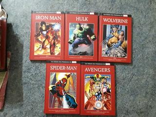 Lote Coleccion De Marvel Tapa Roja