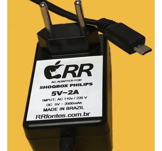 Fonte Carregador 5v 2a Caixa De Som Philips Shoqbox Plug V8