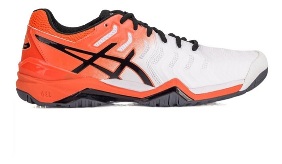 Tenis Asics Gel Resolution 7 All Court - Branco E Laranja