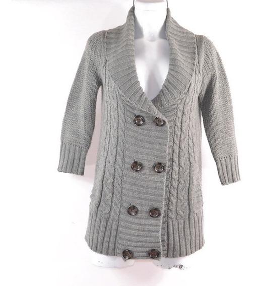 Zara M Suéter Largo Gris Lana Mrsp $800