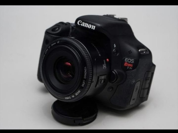 Canon Rebel T3 + Lente 35mm+ Bolsa+ Carregador